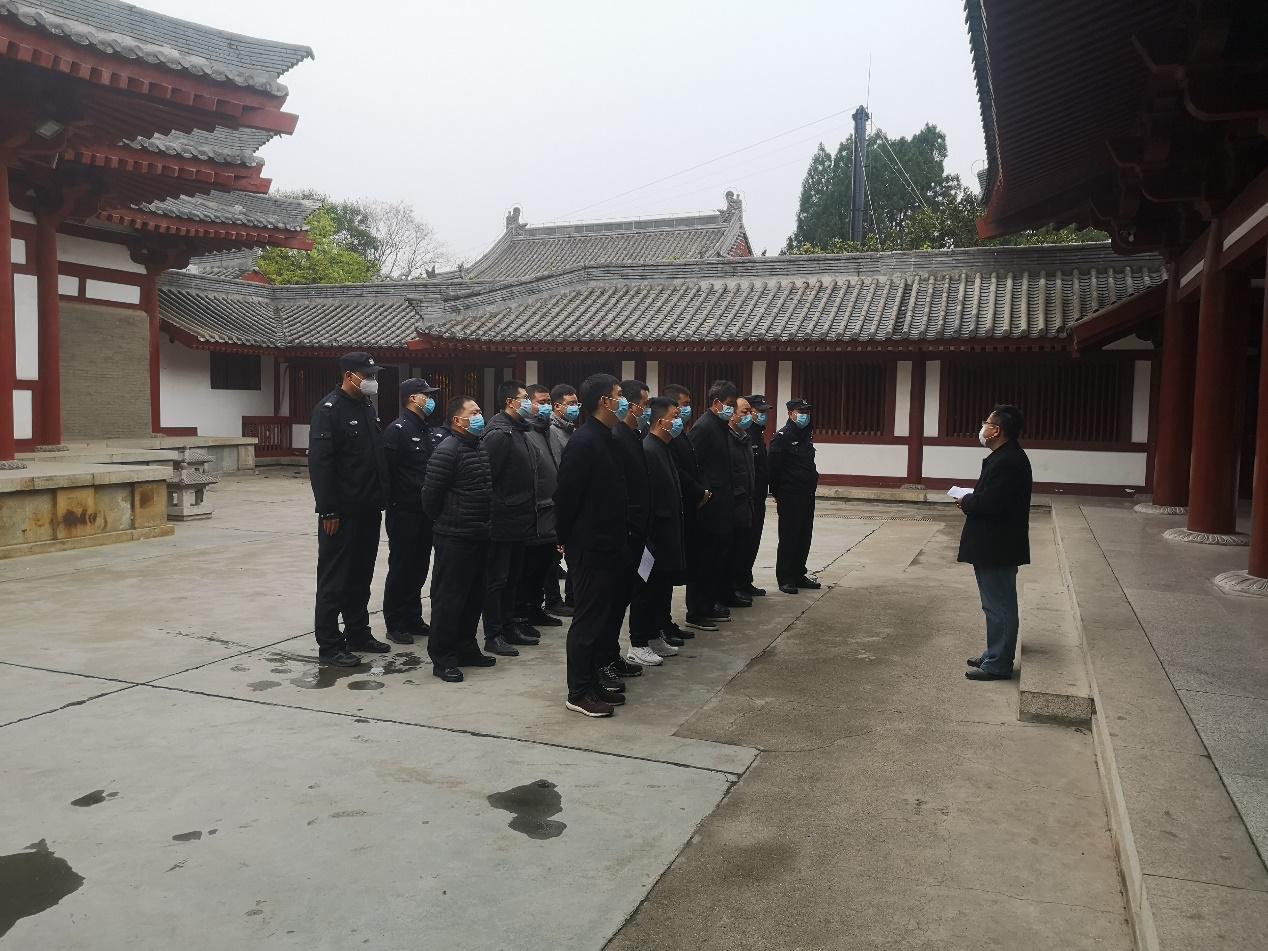 华清宫景区开展清明节前安全大联查